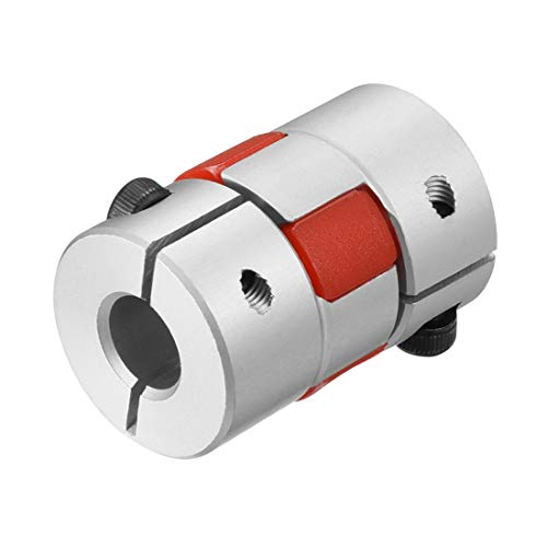 uxcell Shaft Coupling 8mm to 10mm Bore L30xD20 Flexible Coupler Joint for Servo Stepped Motor (Servo Hardware)
