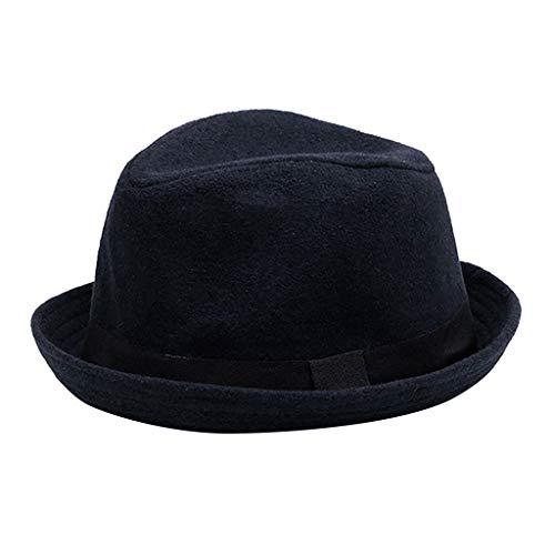 WYTong Solid Color Wide Brim Jazz Hat Unisex Vintage Hats British Winter Plus Outdoor Casual Cap