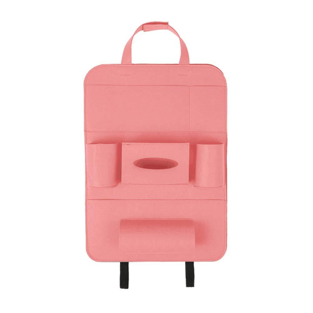 MYLJX Multi-Pocket Car Storage Bag Seat Back Organizer Wool Felt Storage Container Hanging Box Multifunction Vehicle Storage Bag Auto Accessories for Bottles Tissue Box Umbrella Snacks Toys-4