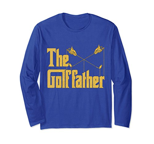 Unisex The Golf Father - Funny Golfer Long Sleeve Tshirt 2XL Royal - Golfer Long T-shirt Sleeve