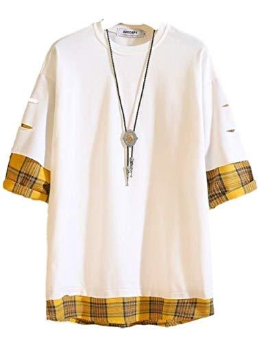 [アイラカリラ] マーク Tシャツ 半袖 カットソー メンズ ゆったり おしゃれ 袖口