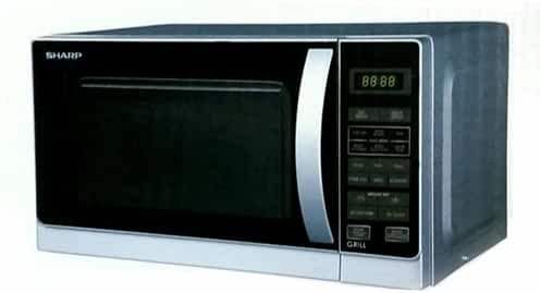 Sharp R-62A0(S)V 800-watt Microwave Oven with Grill, 20-Liter