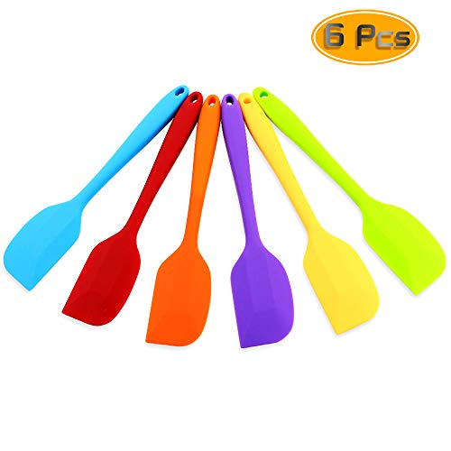(Bignc Silicone Spatula Colorful Spatula Set for Baking Mixing Cooking Small Premium Scraper Spoon Set of 6)