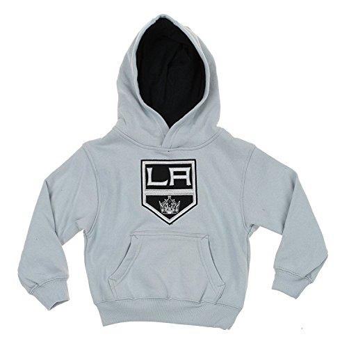 Reebok NHL Kids Los Angeles Kings Classic Fan Pullover Hoodie, Grey