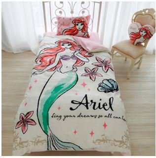 Disney Ariel duvet cover, sheets, pillow case three-piece set single