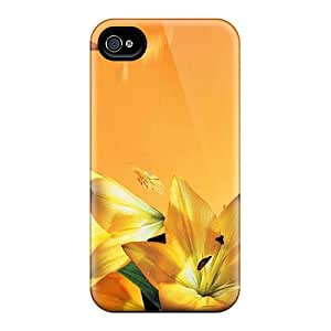 Perfect Gilded Lilys Case Cover Skin For Iphone 4/4s Phone Case