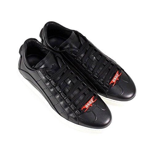 Dsquared2 Scarpe Da Uomo Sneaker 551 Suola Bassa Nera Primavera-estate 2018