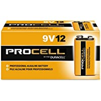 Procell Alkaline Batteries, 9V, 12/Box, Total 72 EA, Sold as 1 Carton