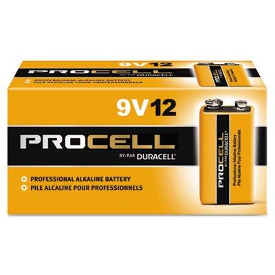 Procell Alkaline Batteries, 9V, 12/Box, Total 72 EA, Sold as 1 Carton