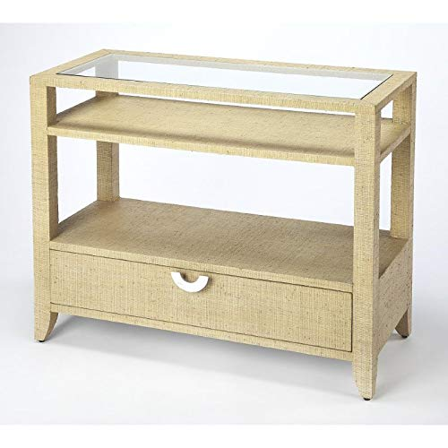 30 in. Console Table in Beige