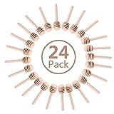 24 Pack Mini Wooden Honey Dipper Sticks, Honey
