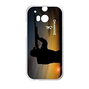 Qezi Fashion Men Shooting Browning Cutter Logo HTC One M8 Cell Phone Cases Cover(Laster Technology)