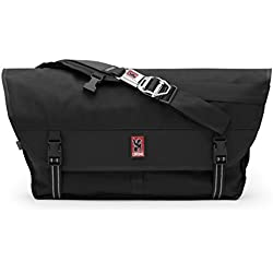 Chrome BG-003-BKBK Black One Size Metropolis Messenger Bag Chrome Buckle