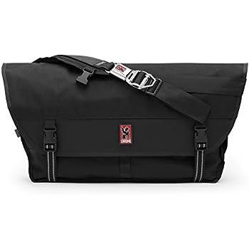 Chrome BG-003-BKBK Black One Size Metropolis Messenger Bag Chrome Buckle
