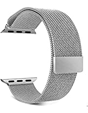 Magnetic Replacement Stainless Steel Band for Apple Watch Series 6 - 44 mm - Silver