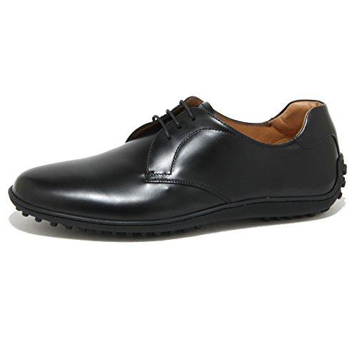 0927O scarpa allacciata CAR SHOE nero scarpe uomo shoes men Nero