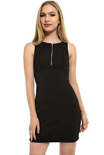 Zip Front Sheath Dress - 5