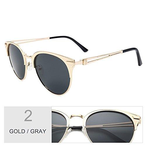 Polaroid mujer Sunglasses gafas Atrás mujer lente UV400 de TL Gato aleación Ojo de oro de Gray de Gold Gafas de Brown de sol Marco Pwq7fS7p