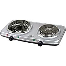 Brent TS-362 SLV SLV Double Burner with Automatic Safety Shut-off
