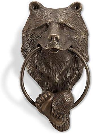 SPI Brass Bear Head Doorknocker