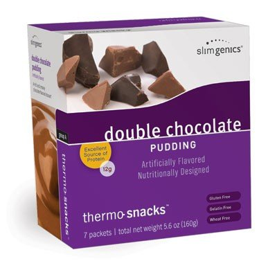 SlimGenics Thermo-Snacks ® |10g Protein - Alleviate Cravings, Increase Energy and Mental Focus, Enhance Weight Loss Results - Kosher Certified, 150 Calories - 7 Packets | Chocolate Pudding ()