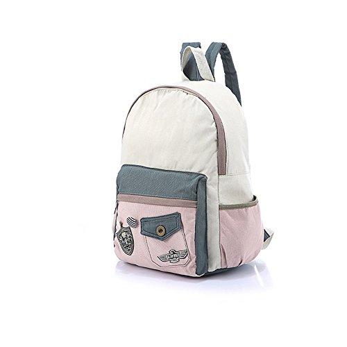 Zaino delle ragazze delle signore delle donne 2017 Nuova versione coreana dello zaino della tela di canapa Sacchetto delle donne del sacchetto di allievo della borsa di scuola del segno della borsa di