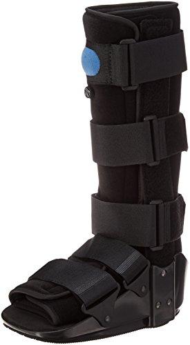 OTC Short Leg Adjustable Air Cast High Top Walker Boot, Black, Small/Tall by OTC