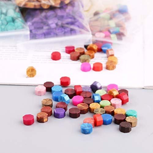 100 Stücke Umschlag Dichtung Wachs Retro Octagon Perlen DIY Dekor Multicolor Briefmarken
