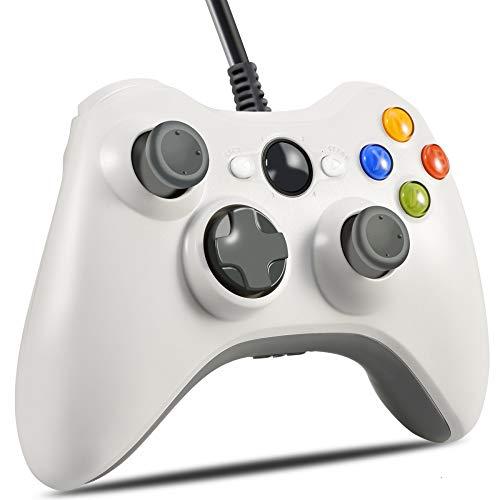 Xbox 360 Controller, VOYEE Design Wired Controller Gamepad for Microsoft Xbox 360 & Slim/Windows/PC (White) (Wired Xbox 360 Controller White)