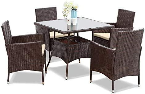 Wisteria Lane 5 Piece Outdoor Patio Dining Set