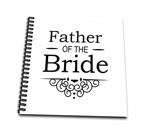 InspirationzStore–の父Bride inブラック–ウェディング–パーツの一致する結婚パーティーセレモニーセット–Fancy Swirls–Drawing Book 12x12 memory book db_151571_2