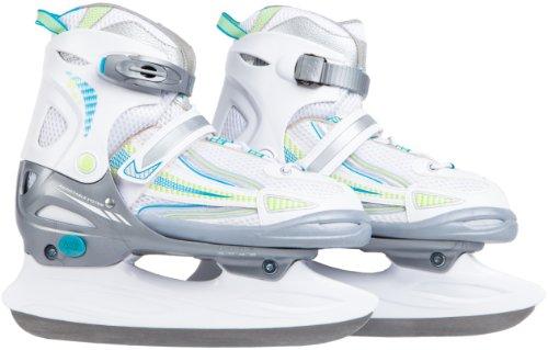 Ultrasport Kinder Schlittschuh Kids-Skater, weiß türkis grün, 32-35, 331300000123