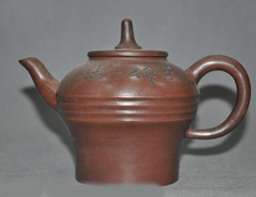 Pottery Old Zisha - SIYAO Wedding Decoration Old Chinese Yixing zisha Pottery Carving Text Word 茶禅一味 Teapot Tea Set Tea Maker