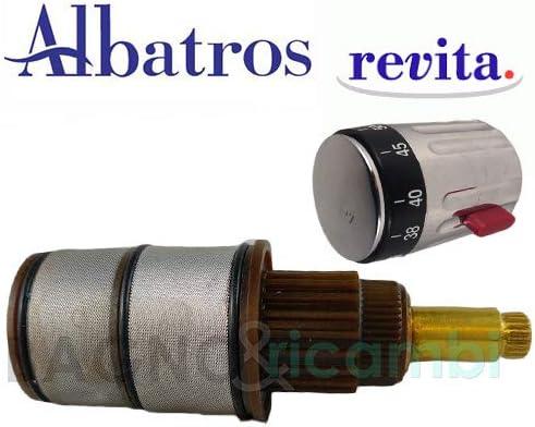 Albatros Recambio Cartucho termostática ReVita mampara de Ducha 4r22088999: Amazon.es: Hogar