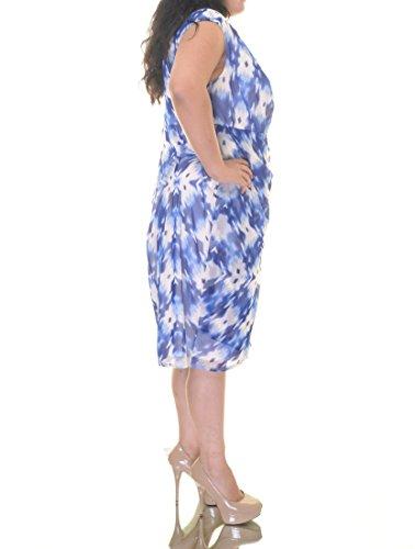 Alfani Femmes, Plus Imprimé Robe De Soirée Taille Haute Bleu 16w