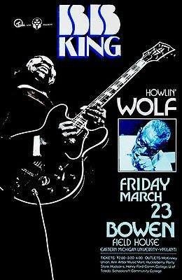 B. B. King - Howlin' Wolf - Bowen Field House - 1973 - Conce