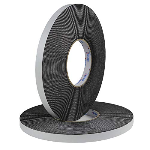 Hxtape Multi Size Choices High Density Foam Tape,Single Side Adhesive,Soundproofing Waterproofing Insulation Foam Gasket Tape Weather Strip (1/16Thick-1/2-100ft)