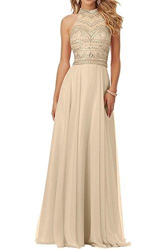 Abendkleider Damen Jugendweihe Braut mit Rosa Champagner Marie Steine La Langes Promkleider Kleider Chiffon WZfwYxq8E
