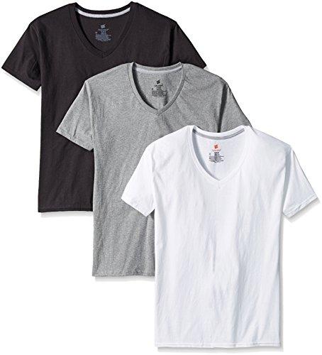 Hanes Men's 3-Pack Comfort Blend Dyed V-Neck, Assorted, Large