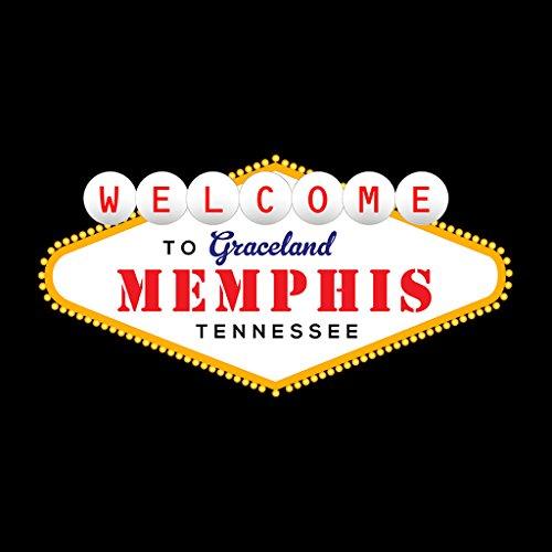 To Graceland Sweatshirt Coto7 Welcome Elvis Vegas Presley Sign Women's Black nSEaP