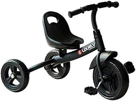 XIUYU Bicicletas 3 años de, Niño pequeño Triciclo con 3 Ruedas Pedales Ajustables Silla de Montar for Niños Niñas Bicicleta Primer Regalo (Negro)