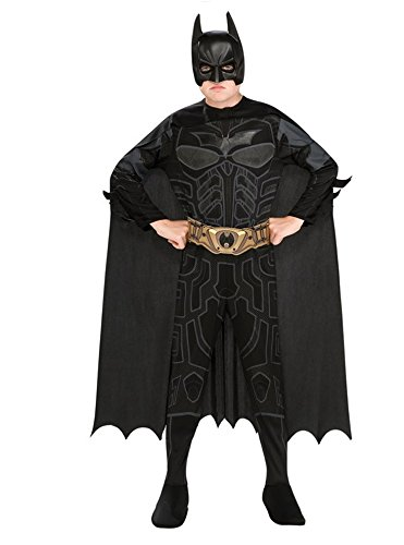Child Batman Jumpsuit Cape Belt and Mask Costume Set One -