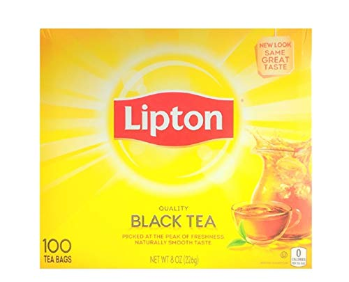 Lipton Black Tea, 100 Bags Per Box (Bags 100 Tea Individually Wrapped)
