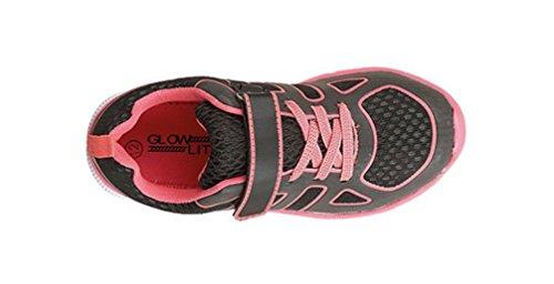 Dek  Glow Lite,  Mädchen Jungen Kurzschaft Stiefel Schwarz / Pink