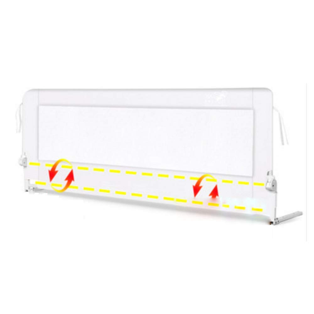 NAN liang 子供の安全フェンス - 鉄チューブ、ポータブル折り畳み式、子供屋内屋外セーフティゲームフェンス(ホワイト/イエロー) (色 : White 150cm)  White 150cm B07KC6GKGM