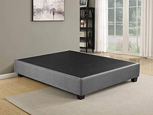 Spring Solution Plateform Bed For Mattress, Eliminate Need For Box Spring And Frame, King Size, Grey