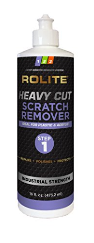 Rolite Heavy Cut Scratch Remover (16 fl. oz.) for Plastic & Acrylic Surfaces Including Marine Strataglass & Eisenglass, Headlights, Aquariums (Best Acrylic Scratch Remover)