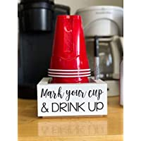 Wooden Solo Cup Holder - Mark Your Cup And Drink Up! Party Decor Made is the USA