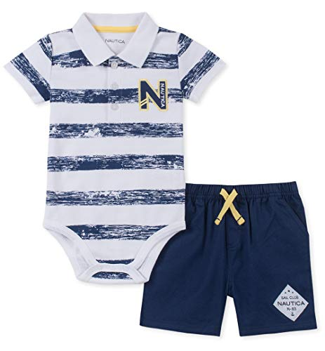 - Nautica Sets (KHQ) Baby Boys 2 Pieces Bodysuit Shorts Set, Navy/White 12M