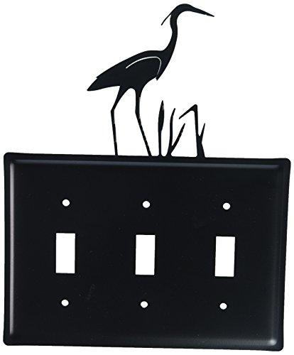 Village Wrought Iron 8 Inch Heron Triple Switch ()